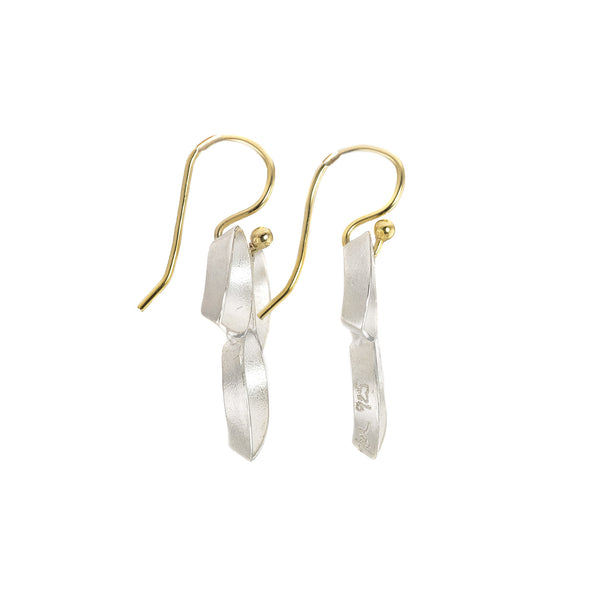 NEW! Ravenna Leaf Drop Earrings in Sterling Silver by Thea Izzi