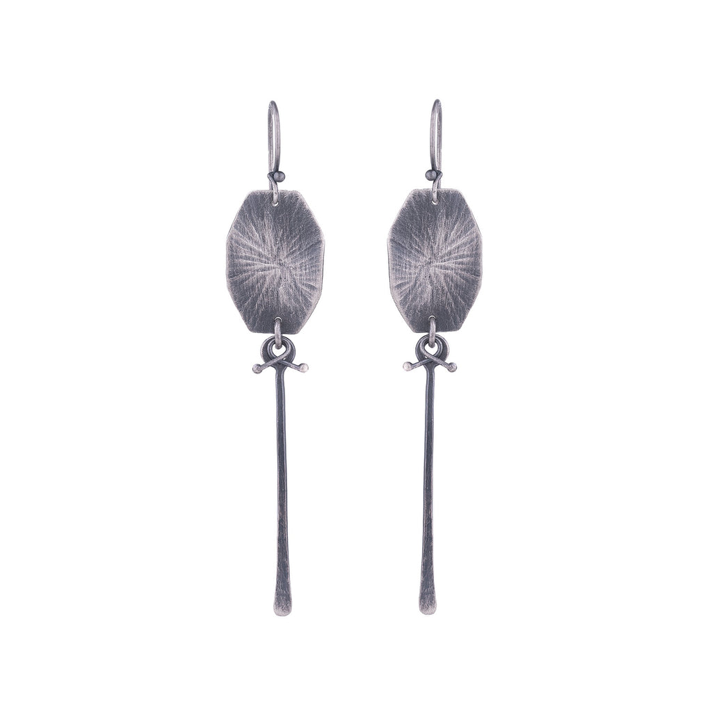 NEW! Oxidized Silver Texture Earrings by Dina Varano
