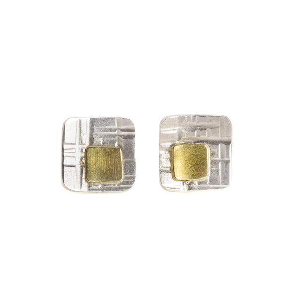 NEW! Window Studs with 18k Gold and Sterling Silver by EC Design