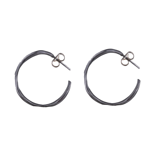 NEW! Small Cross Side Hoop Earrings by Rebecca Overmann
