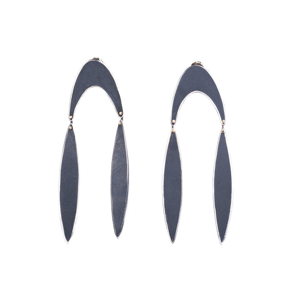 NEW! Elongated Triangle Drop Earrings by Shaesby