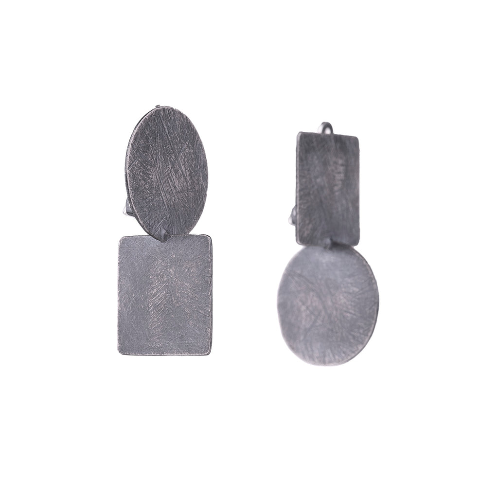 NEW! Circle & Square Axis Clip-on Earrings by Heather Guidero