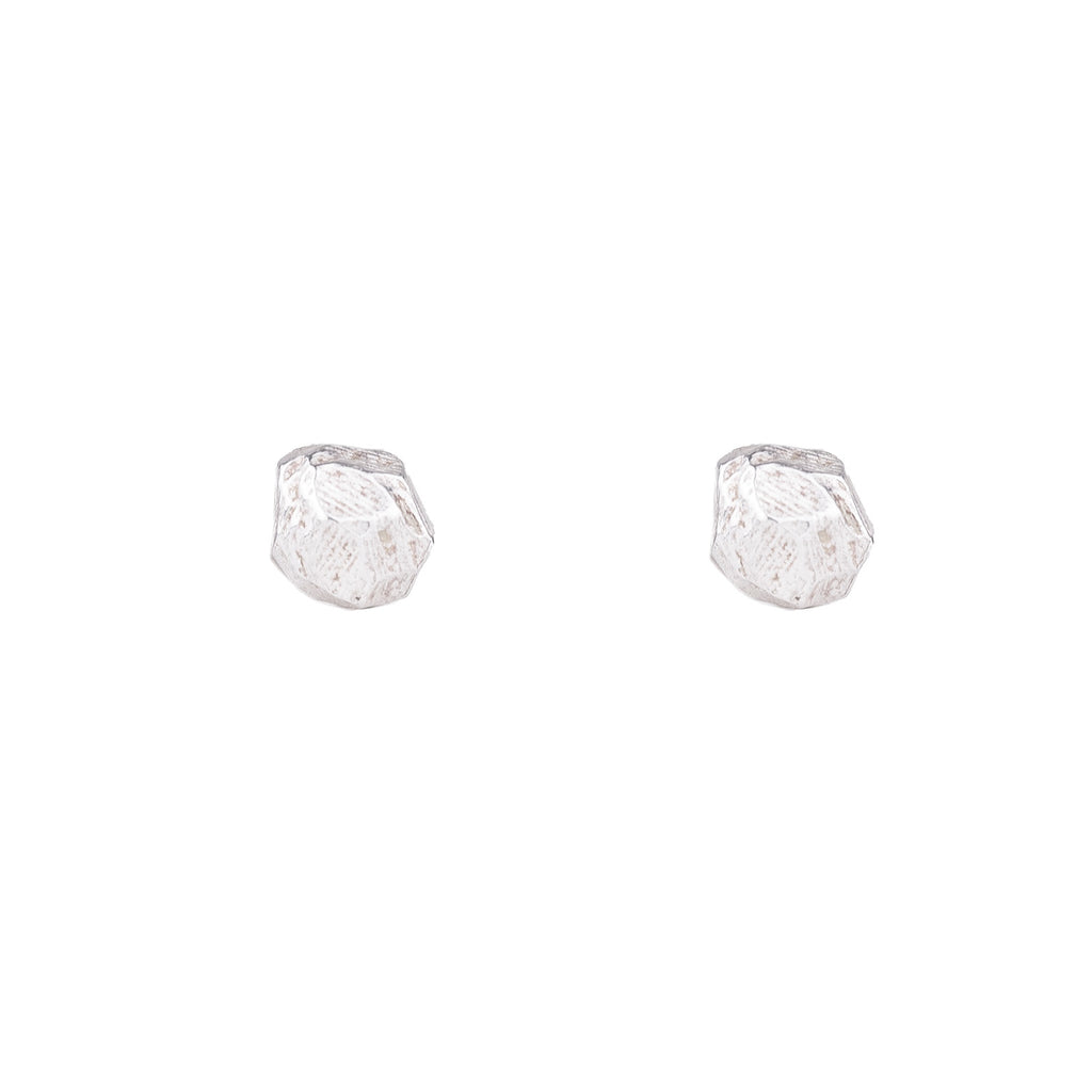 NEW! Bright Silver Rock Studs by Dahlia Kanner