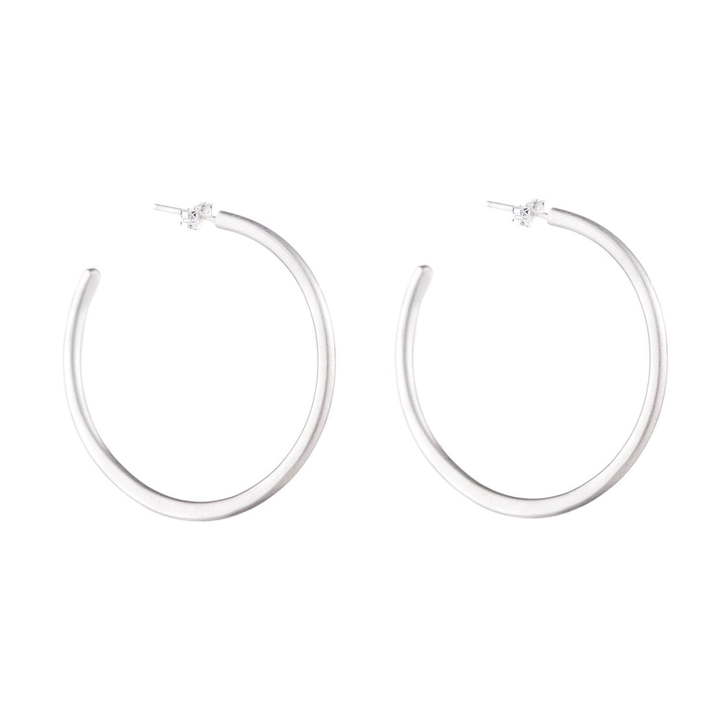 NEW! Medium Classic Silver Hoop Earrings by Colleen Mauer Designs