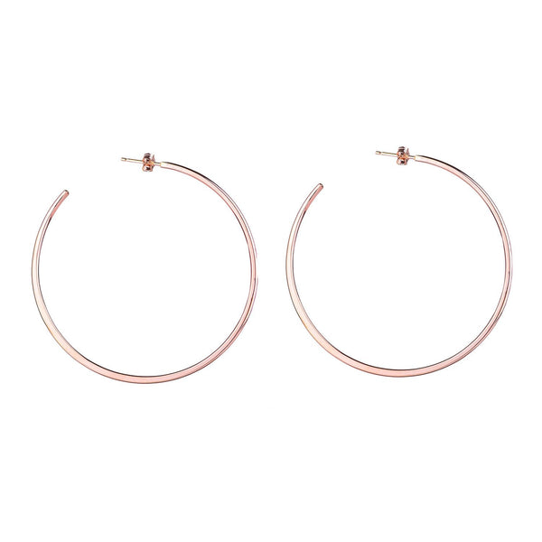 NEW! Large Classic Rose Gold Hoop Earrings by Colleen Mauer Designs