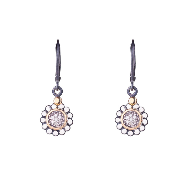 NEW! Round Pave Diamond Drop Earrings by Chihiro Makio - 314 Studio
