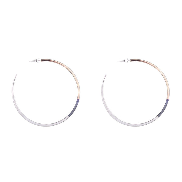 NEW! Large Tri-Toned Classic Hoop Earrings by Colleen Mauer Designs