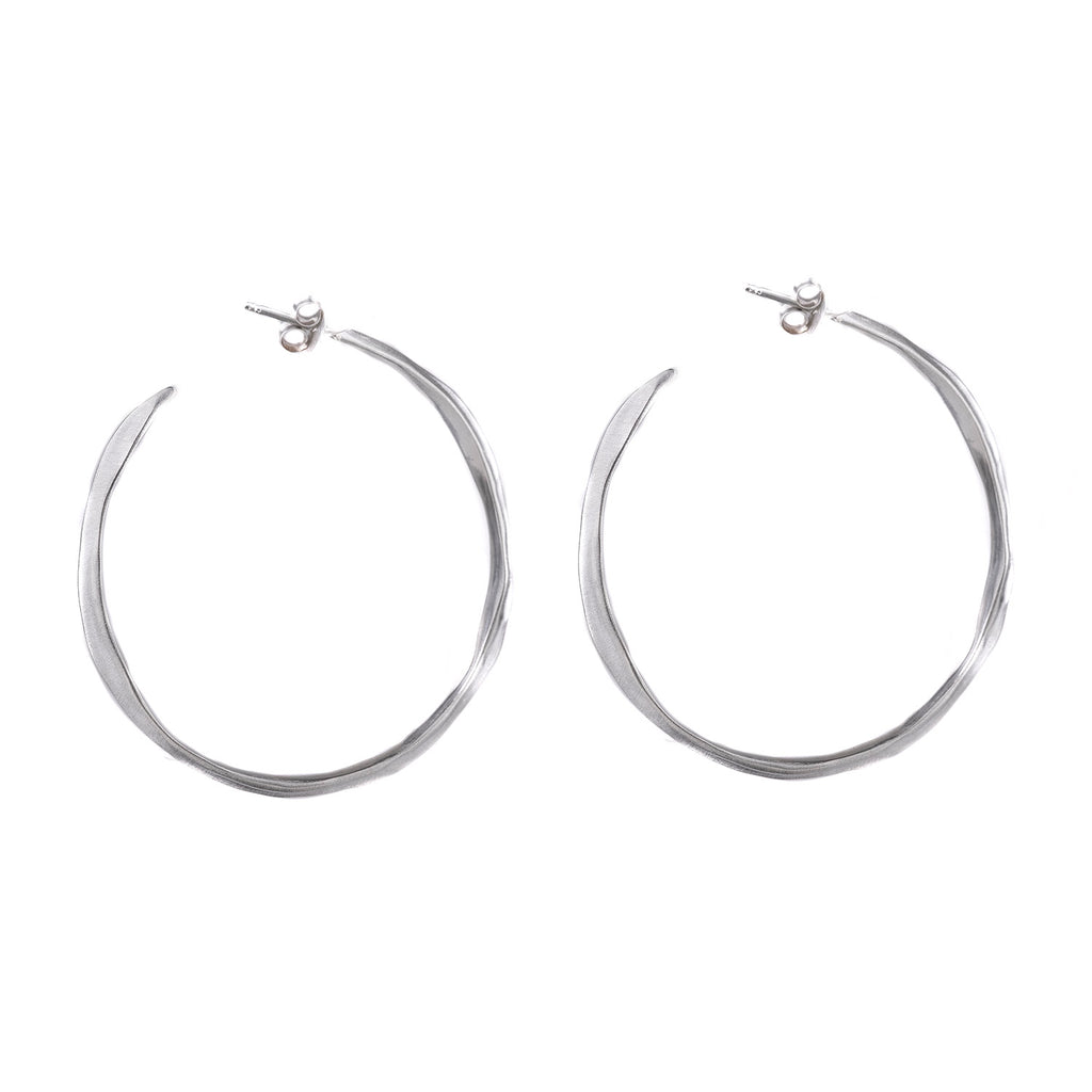 NEW! Narrow Spine Hoop Earrings by Rebecca Overmann