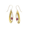 NEW! Brass and Ruby Earrings by Eric Silva
