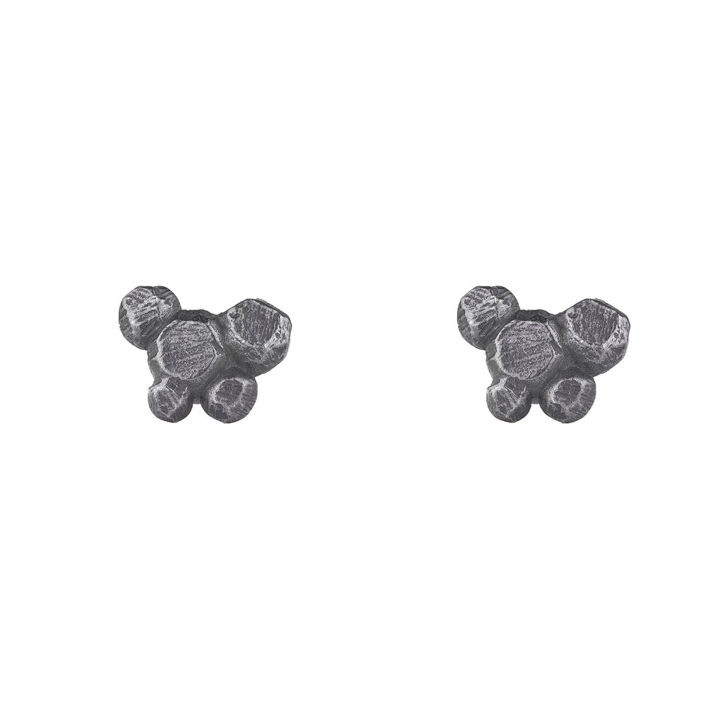 NEW! Oxidized Silver Faceted Cluster Studs by Dahlia Kanner