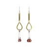 NEW! Brass and Garnet Earrings by Eric Silva
