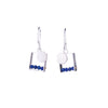 NEW! Small Square Earrings with Silver Dot & Lapis by Ashka Dymel