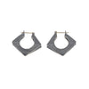 NEW! Oxidized Sterling Silver Angular Hoop Earrings by Dahlia Kanner