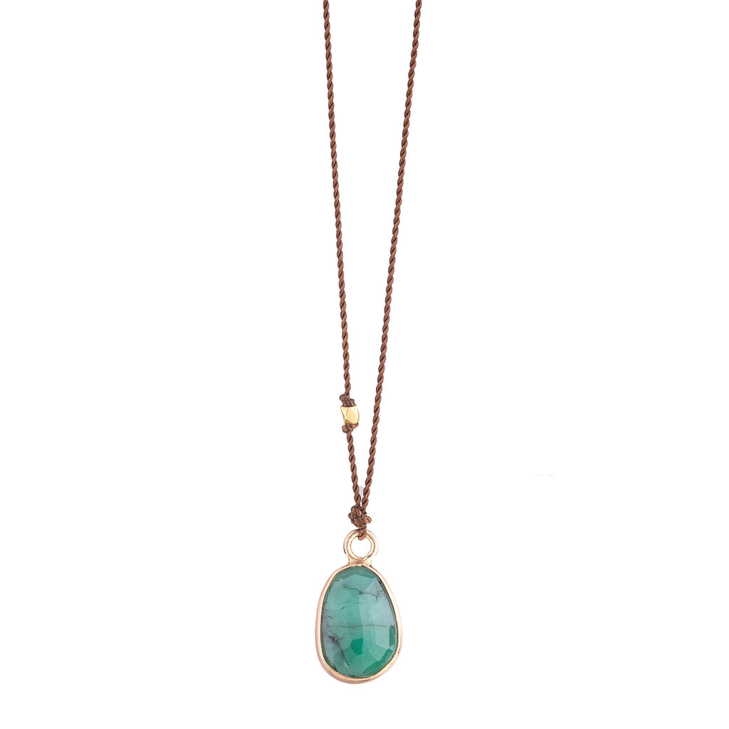 NEW! Emerald Necklace with 14k Gold by Margaret Solow