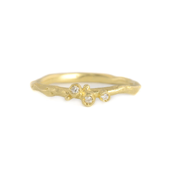 NEW! 14k Gold Encrusted Tiny Branch Ring by Branch