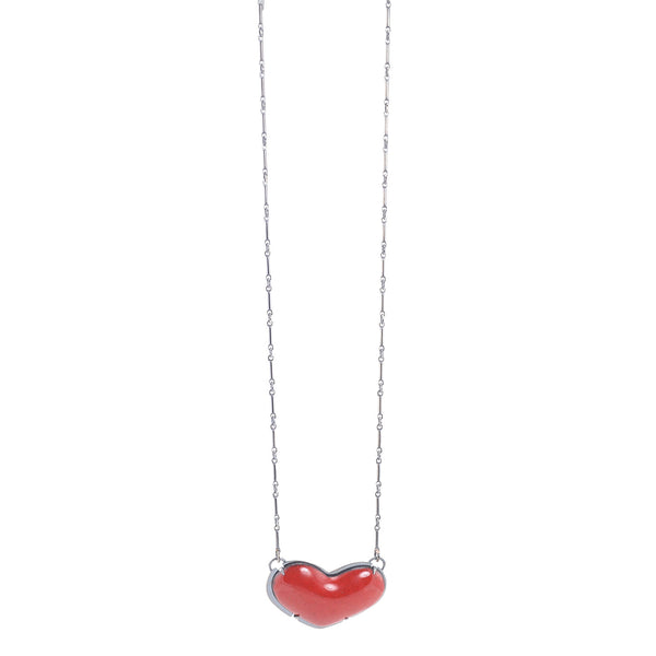 NEW! Tiny Enamel Heart Necklace by Lisa Crowder