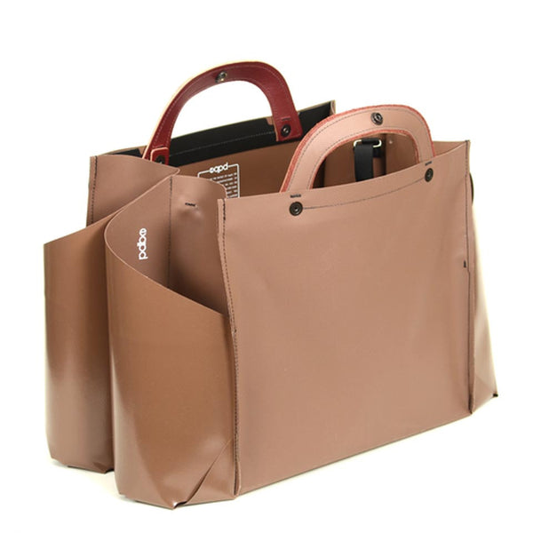 Double Wide Tote- Briefcase Handle by EQPD - Fire Opal - 1