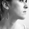 Eva Earrings (in Silver or Bronze) by Megan Auman - Fire Opal - 3