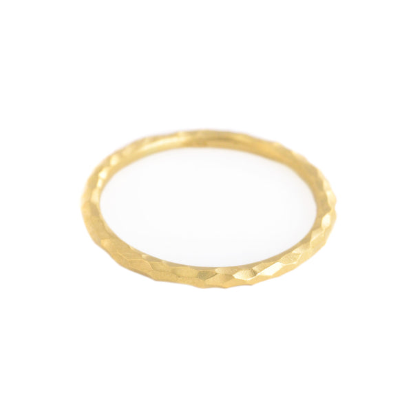 Yellow Gold Facet Band by Sarah Swell