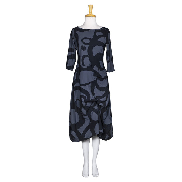 SALE! Fenwick Dress in Carbon Halo Print by Porto