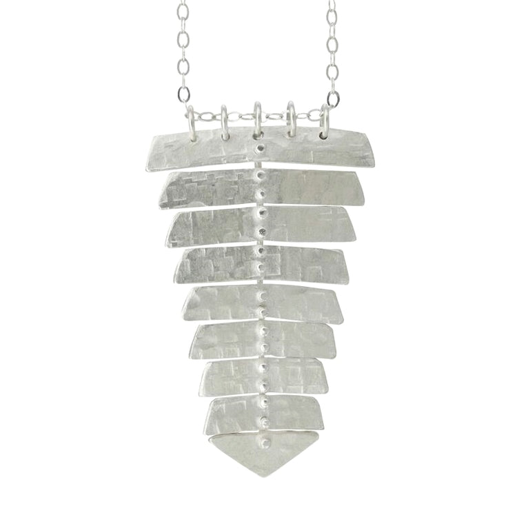 NEW! Sterling Silver Fishbone Pendant by Sarah Swell