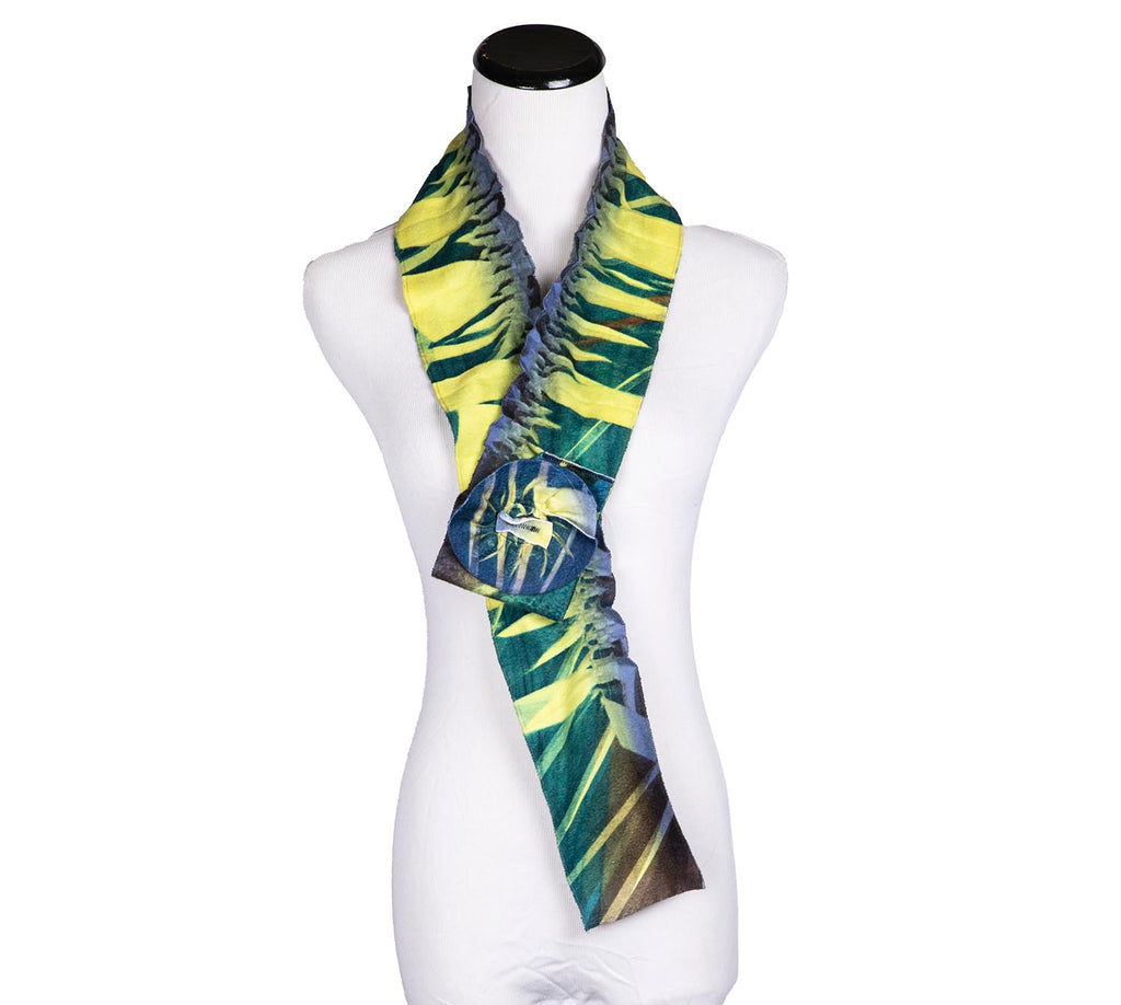 SALE! Fleece Flower Collar Scarf in Citrus by Wendy Edmonds