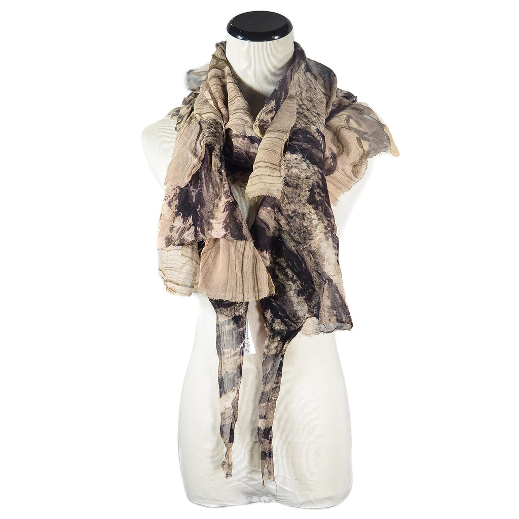 NEW! Flutter Scarf in Black, White and Beige by B. Felt