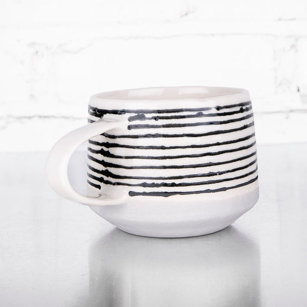 NEW! Ebb and Flow Striped Mug in Fog by Elizabeth Benotti