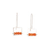 Carnelian Frame Earrings by Ashka Dymel