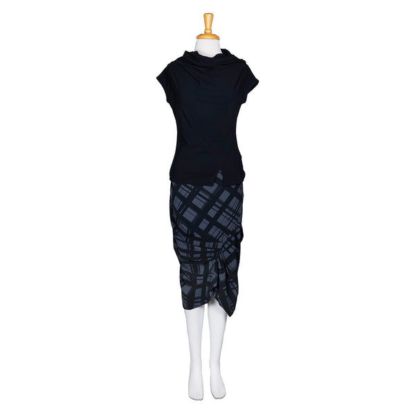 NEW! Frenzy Skirt in Carbon Plaid Print by Porto