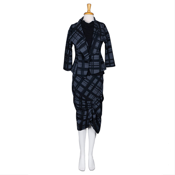 NEW! Eclat Jacket in Carbon Plaid Print by Porto