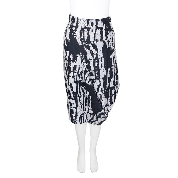 NEW! Garbo Skirt in Gris Relic Print by Porto