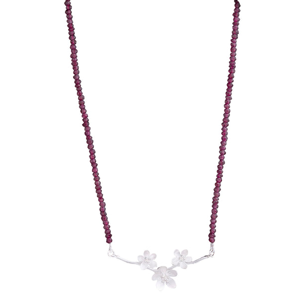 NEW! Apple Blossoms with Garnets Necklace by EAM