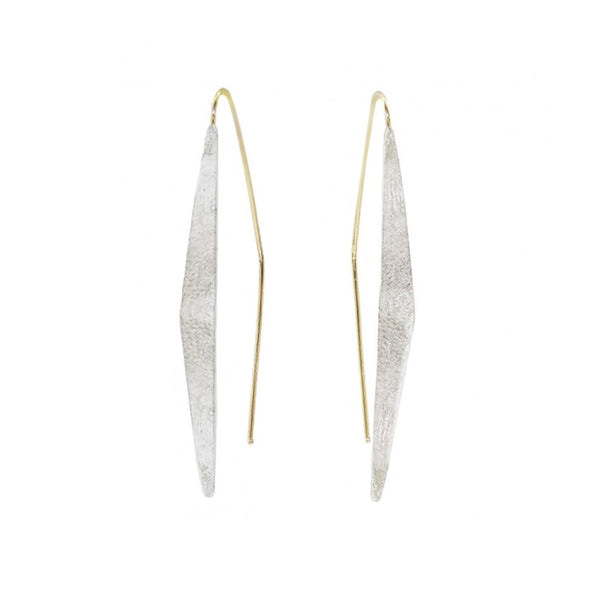 NEW! Geo Drop Earrings in Bright Silver by Shaesby