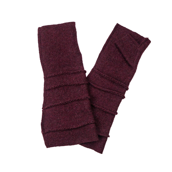 NEW! Wrist Warmers with Thumb in Burgundy by Vilma Marė