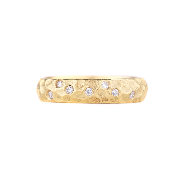 NEW! 18k Gold Cob Ring with Diamonds by Dahlia Kanner