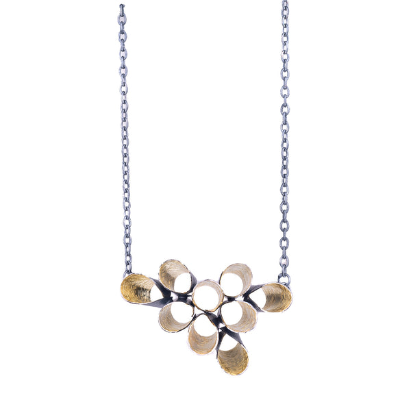 NEW! Blossom Necklace in Black/Gold by Jinbi Design