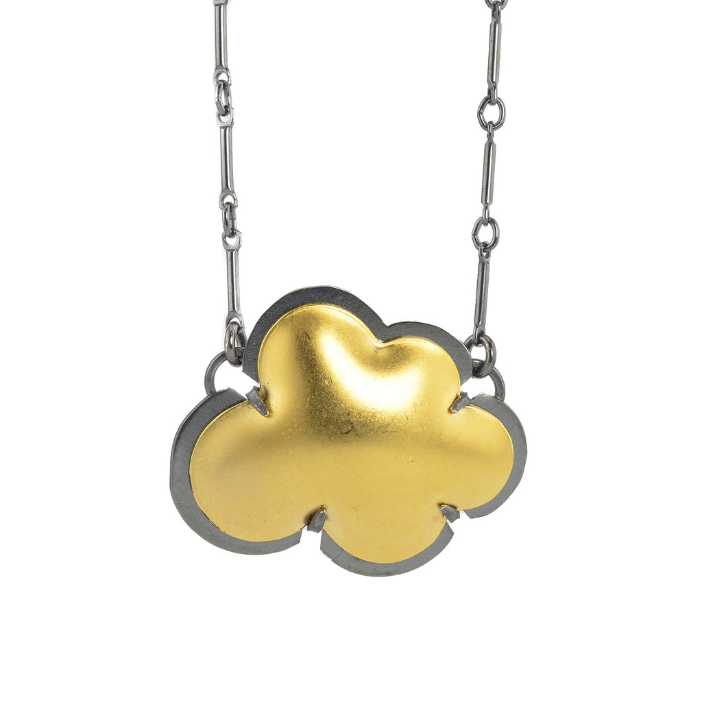 NEW! Cloud Necklace in Gold Vermeil & Oxidized Silver by Lisa Crowder