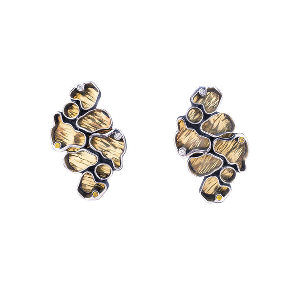 NEW! Coral Earrings with Diamonds by Jinbi Design