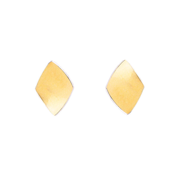 NEW! Bimetal Diamond Shaped Stud Earrings by Thea Izzi
