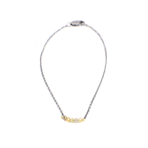 Gold Diamond Smile Bracelet by Rebecca Overmann
