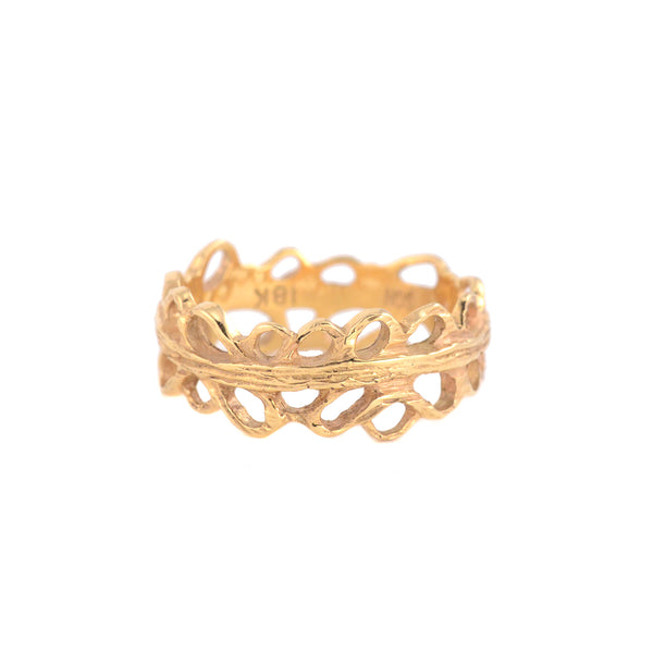 SALE! Shadows Narrow Band in 18k Yellow Gold or 18k White Gold by Sarah Graham
