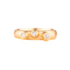 NEW! Thin Barnacle Band with Three Diamonds in 18k Gold by Dahlia Kanner