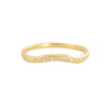 18k Gold Curved Band with .07ct Diamonds by Yasuko Azuma