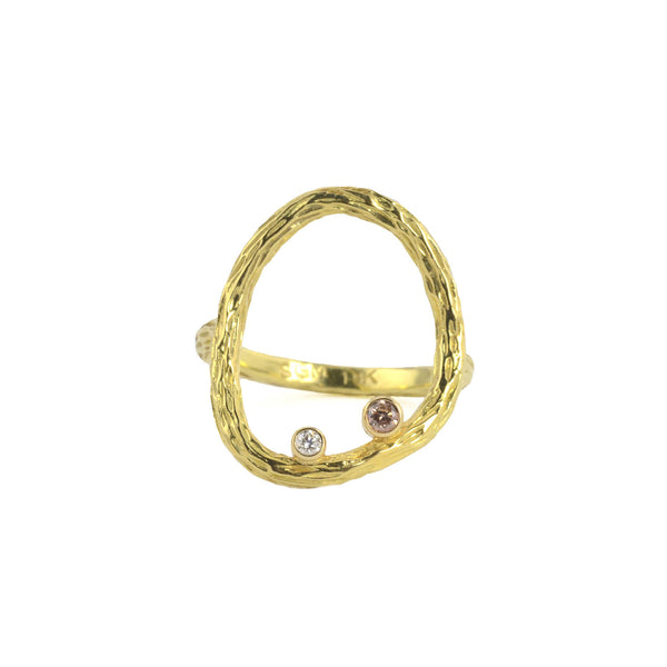 SALE! Medium Circle Pebble Ring in Gold by Sarah Graham