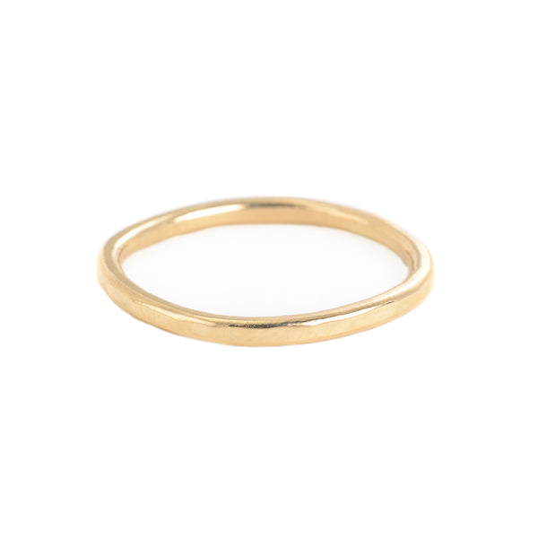 14k Yellow Gold Thin Individual Round Ring by Colleen Mauer Designs