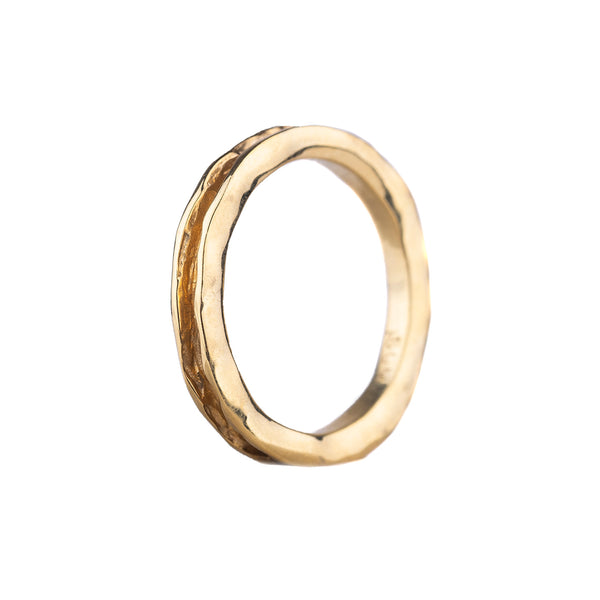 SALE! Oyster Single Channel Band in Yellow Gold by Sarah Graham