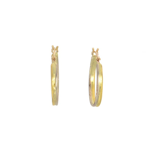 Gold Seamed Hoop Earrings by Variance Objects