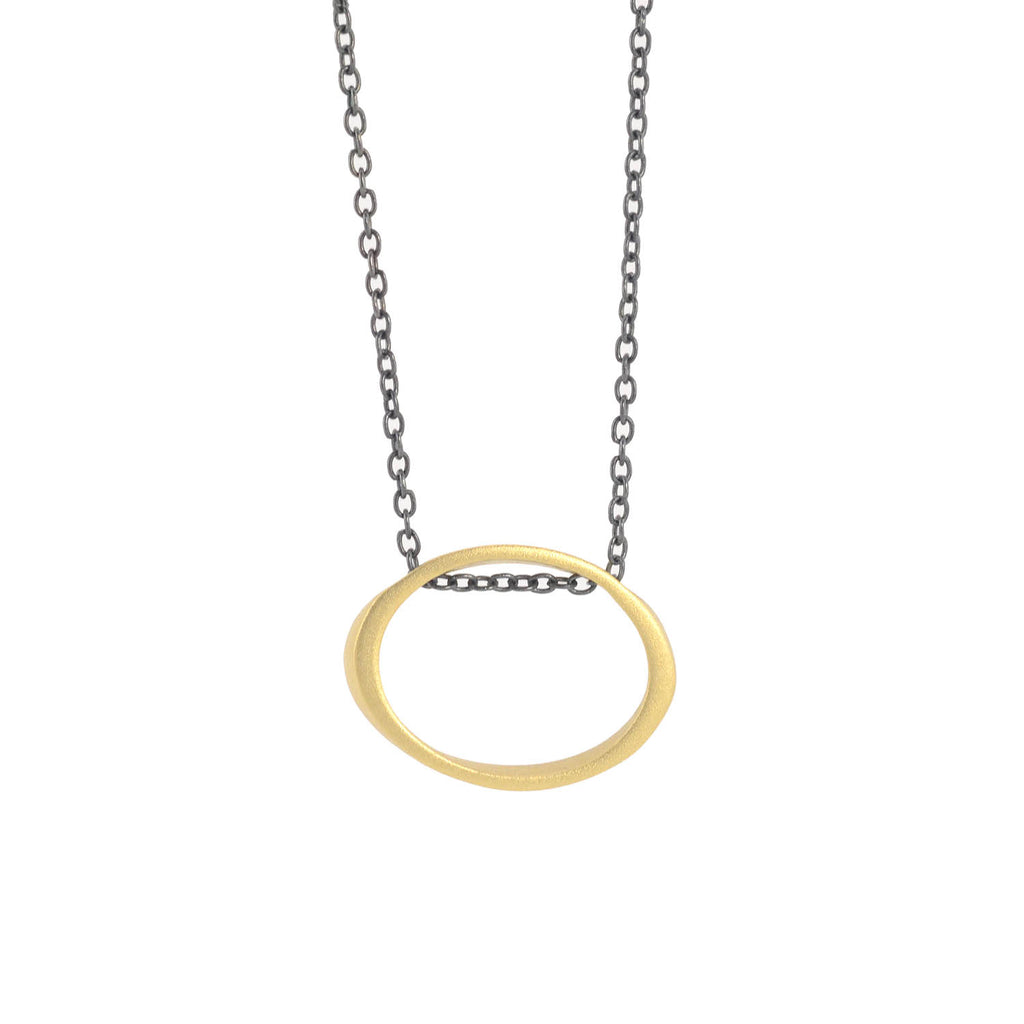 NEW! 18k Floating Torque Pendant Necklace by Marion Cage
