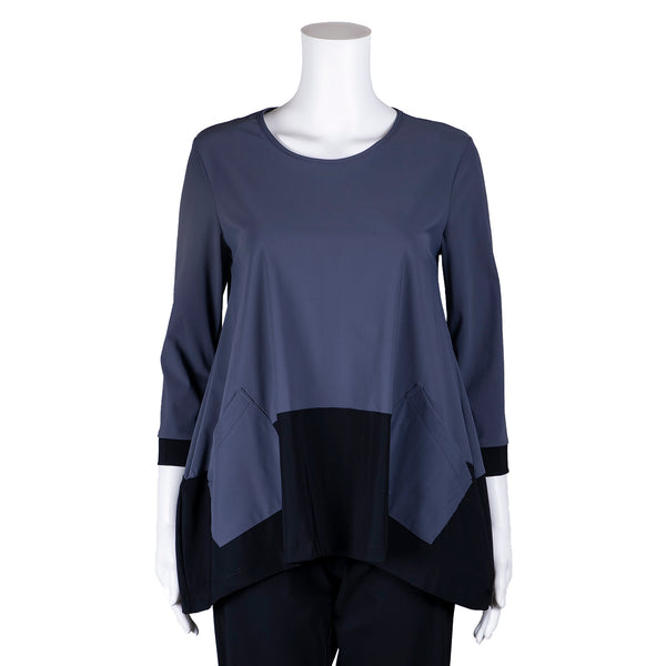 NEW! Govenor Top in Glacier with Black by Porto